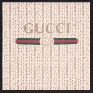 Gucci logo rose print silk scarf~GORGEOUS!!!